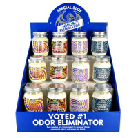 Special Blue Smoke Odor Eliminator Candle - 14.8oz 12pc Display - AFG Distribution