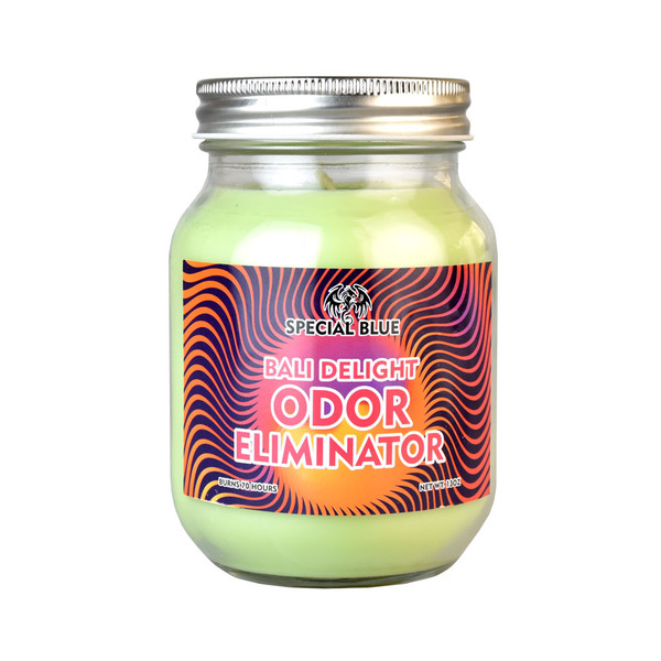 Special Blue Smoke Odor Eliminator Candle - Bali Delight