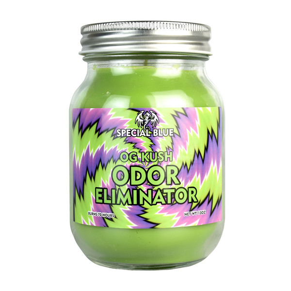 Special Blue Smoke Odor Eliminator Candle - OG Kush
