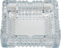 Square Cut Glass Ashtray - 6""