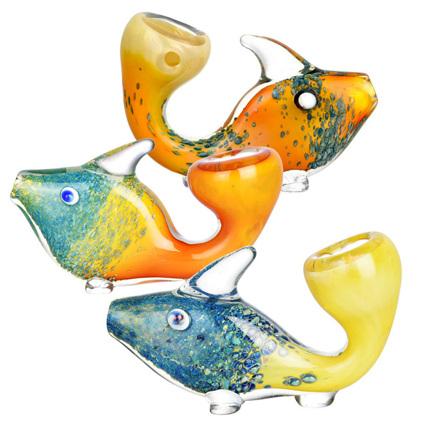 Standing Fritted Tropical Fish Hand Pipe | Wholesale Distributor