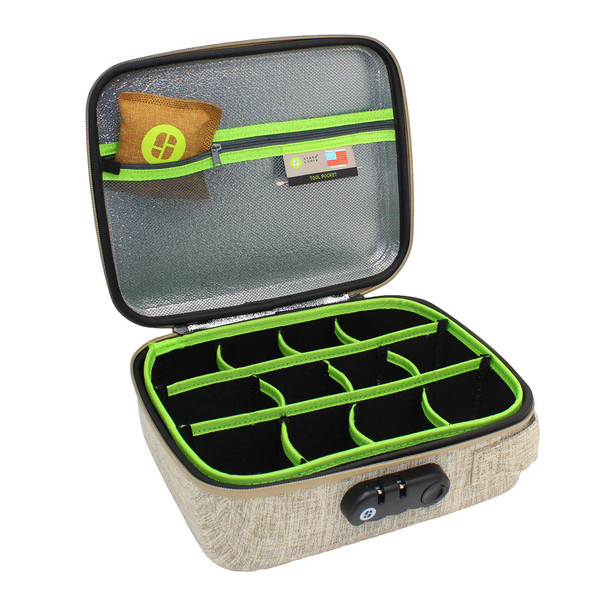 Stashlogix Silverton Lockable Stash Case | Tan | Distributor