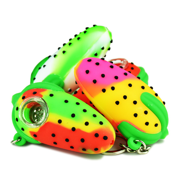 Strawberry Silicone Hand Pipe | Dry Herb | Wholesale Distributor