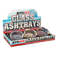 Striko Glass Ashtray - Round | Psychedelic | 3.5"