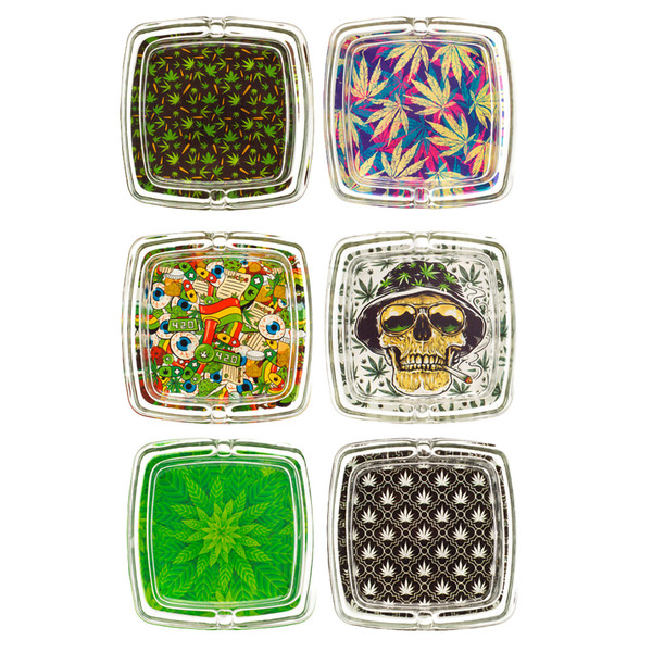 Striko Glass Ashtray - Square | 3.5"