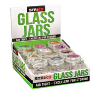 Striko Glass Jar w/ Clamp | Herb Storage | Master Distributor