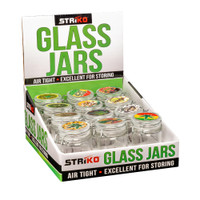 Striko Glass Jar w/ Clamp - 2.5"
