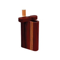 Striped Dark Wood Dugout | Small | Wholesale