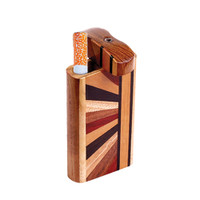 Striped Wood Dugout w/ Horizon Woodworked Design | Small