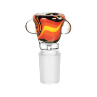 Sunrise Swirl Glass Bowl w/ Marble | Wholesale Distributor