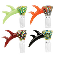 Super Horn Worked Herb Slide - 19mm Male | Assorted Colors