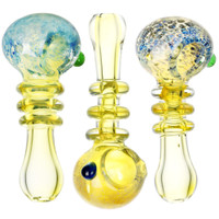 Supernova Burst Ring Neck Glass Hand Pipe | Wholesale Distributor