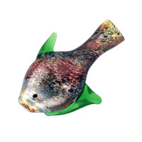 Swirled Fritted Fish Taster Bat | Worked Glass | Wholesale Distributor