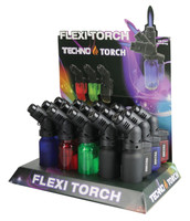"Techno Torch Flexi Torch - 4.5"" / Asst Colors - 15pc Display"