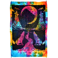 The Moon Tarot Card Mini Tapestry Wall Hanging | Wholesale Distributor