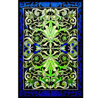 ThreadHeads Hemp Leaf Kaleidoscope Tapestry | Wholesale
