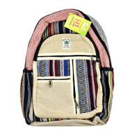 ThreadHeads Himalayan Hemp Multi-stripe Backpack | Wholesale