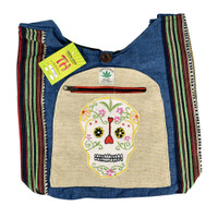 ThreadHeads Hemp Sugar Skull Shoulder Bag | Wholesale