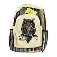 ThreadHeads Himalayan Hemp Wise Owl Backpack | Wholesale