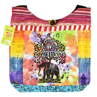 ThreadHeads Multi-Pattern Elephant Under Tree Bag | Wholesale