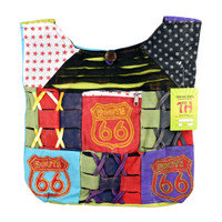 ThreadHeads Route 66 Razor Cut Patchwork Tote Bag | Wholesale
