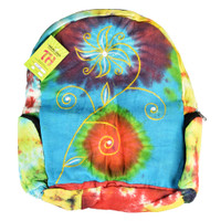 ThreadHeads Stitched Flower Tie Dye Backpack | Wholesale