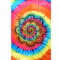 ThreadHeads Tie Dye Decorative Lotus Tapestry | Wholesale Distributor
