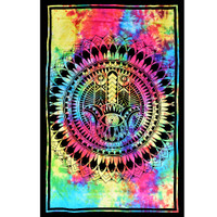 ThreadHeads Tie Dye Hamsa Hand Tapestry | Wholesale