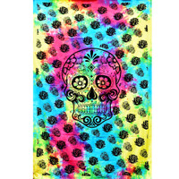 ThreadHeads Tie Dye Sugar Skull Tapestry | Wholesale