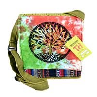 ThreadHeads Tie-Dye Tree of Life Shoulder Bag | Wholesale Distributor