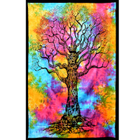 ThreadHeads Tie Dye Tree of Life Tapestry | Small | Wholesale