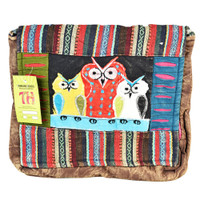 ThreadHeads Watchful Owl Trio Satchel Style Bag | Wholesale