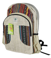 ThreadHeads Hemp 2 Zipper Backpack - 18x12 Inches - AFG Dist