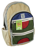 ThreadHeads Hemp 4 Zipper Backpack - 18x12 Inches - AFG Dist