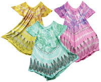 Tie Dye Butterfly Sleeve Dress - 33 / Asst Colors - AFG Dist