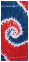 "Tie-Dye Cotton Beach Towel - 31""x55"" / Freedom - AFG Dist"