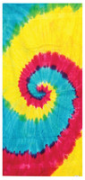 "Tie-Dye Cotton Beach Towel - 31""x55"" / Reactive Rainbow - AFG Dist"