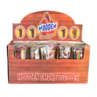Tie Dye Cylinder Wood Dugout | 12pc Display | Wholesale