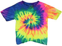 Tie-Dye T-Shirt - Neon Rainbow - Toddler / 2T - AFG Distribution