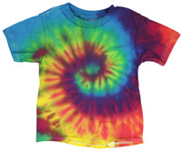 Tie-Dye T-Shirt - Reactive Rainbow - Toddler / 4T - AFG Distribution