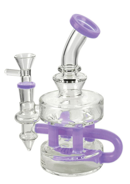 Tiered Glass Waterpipe - 7"