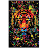Tiger Splatter Non-Flocked Blacklight Poster | Wholesale Distributor
