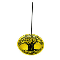 Tree of Life Incense and Cone Dish Burner - 5""