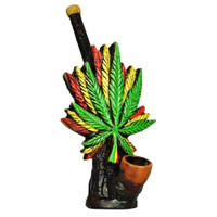 Triple Rasta Leaf Handcrafted Pipe | Wholesale Distributor