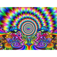 Trippy Hippie Rainbow Fractal Poster | Wholesale Distributor