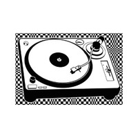 Trippy Turntable Sticker | Wholesale Distributor