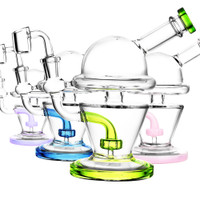 UFO Glass Oil Rig | Assorted Colors | Wholesale Distributor