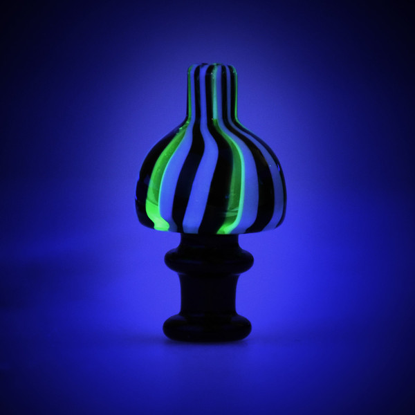 UV Striped Carb Cap | Glow | Buy Wholesale
