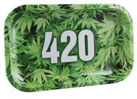 "V Syndicate Rolling Tray - 420 Green / 10.5""x6.25"" / Medium"