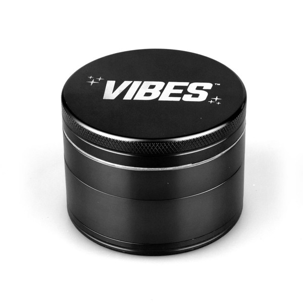 Vibes Anodized Metal Grinder | 4pc | Black | Wholesale Distributor